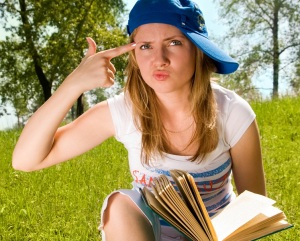 She's enjoying your book, really. © Lanak | Dreamstime Stock Photos & Stock Free Images