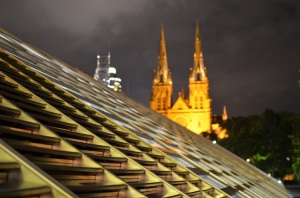 The modern contrasts the old: one of the reasons I chose Sydney as the setting for Radiant
