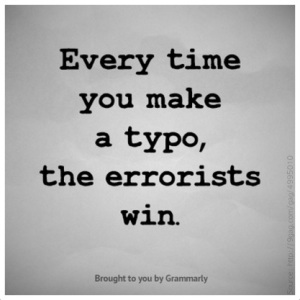 Don't let the errorist win