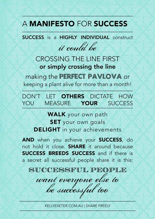 A manifesto for success