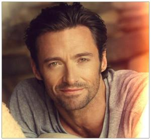 Hugh Jackman with stubble